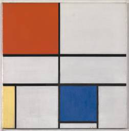 Composition C (No.lll), with Red, Yellow, and Blue, 1935