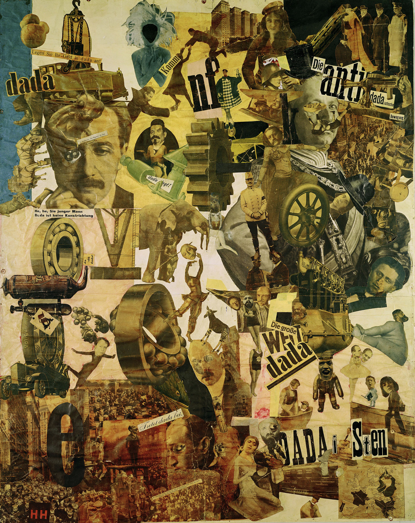 Cut with the Kitchen Knife, collage by Hannah Höch