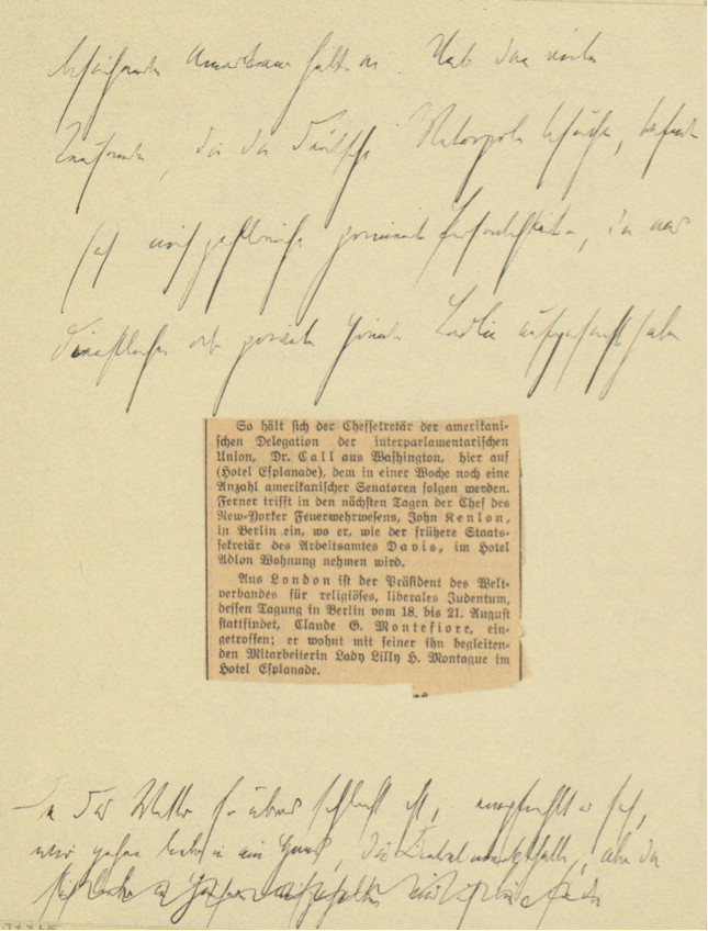 Handwritten Manuscript of Alfred Döblin's Berlin Alexanderplatz