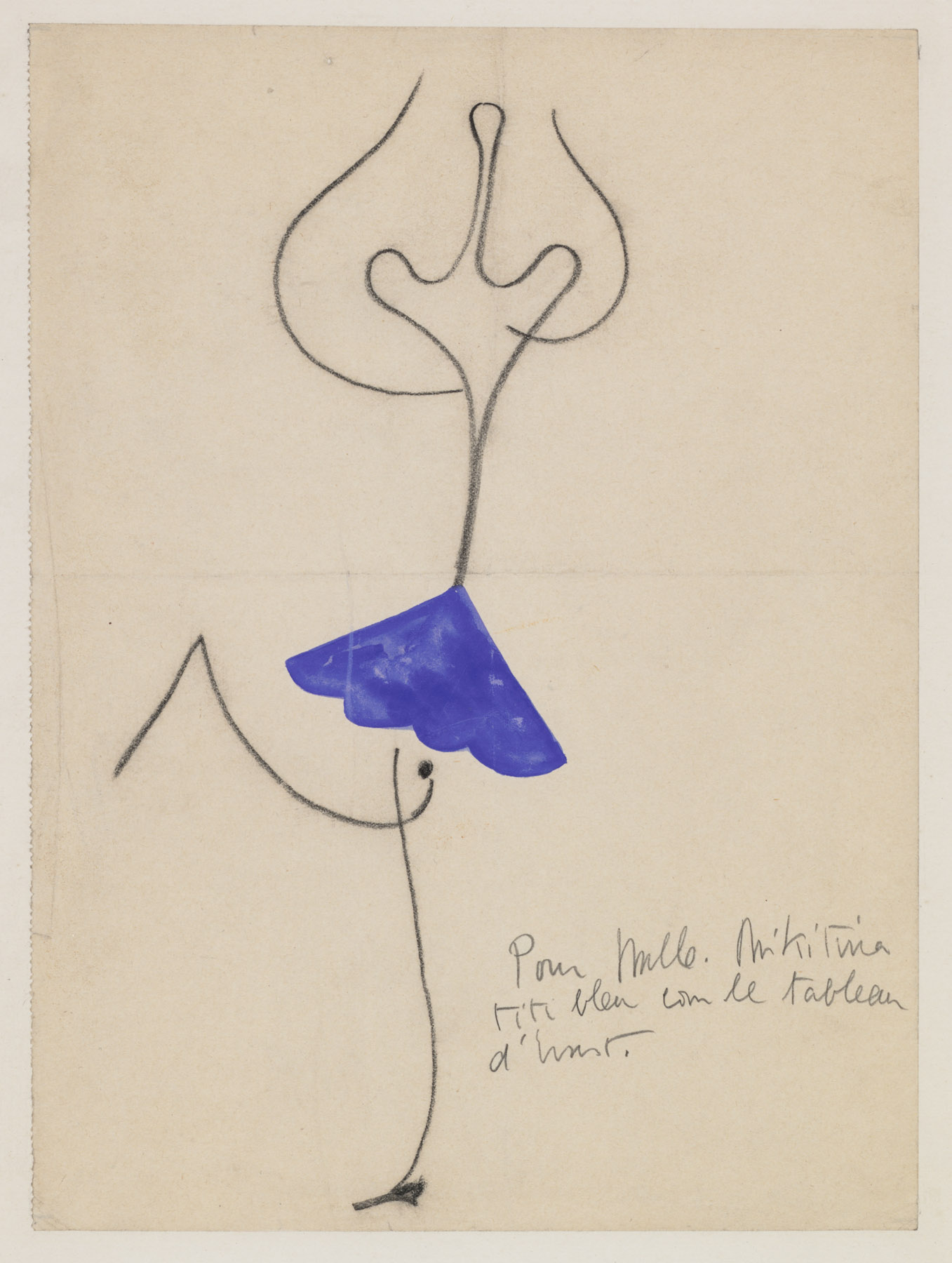 Joan Miró (1893–1983). Roméo et Juliette, Costume design for Alice Nikitina, ca. 1926.